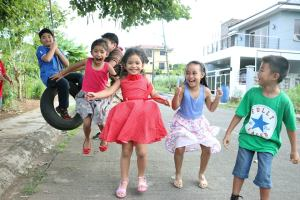 Shoot away with kids' endless jumpshots. Photo taken at my mommy friend Brenda's Jesus Party last December.