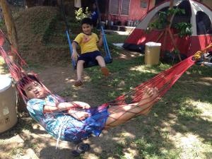 "Hammocks and swings are not just for reading. They are also for engaging with kids about their dreams, their friendships, their interests and for answering their countless ""Why"" questions."