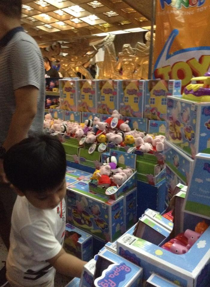 Peppa Pig toys from Toy Kingdom also set up shop, got all kids jumping around in frenzy and excitement.