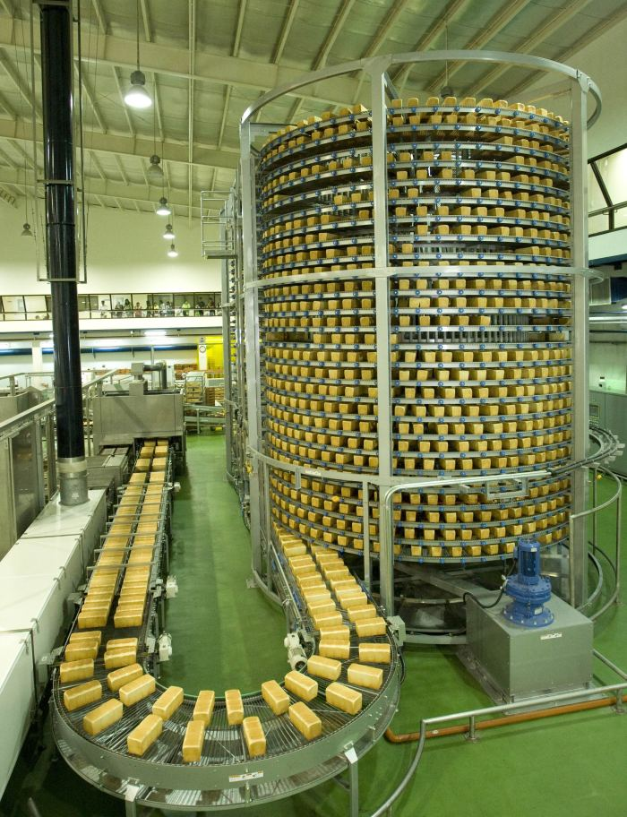 Cooling Tower - Gardenia is able to produce more than 6,000 loaves of bread per hour. Each loaf is prepared and produced without the help of human hands.