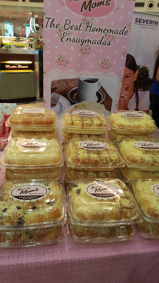 Must be Mom's Homemade Ensaymada – packed in 6 or 12 pcs. or go with their ensaymaditas with a pack of 60 or 80.