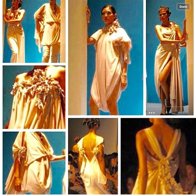 Philippine Fashion Week Spring Summer Collection 2008 themed Visions and Trends, nude dresses with drapings